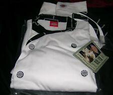 Dickies Mens Chef Coat Custom Executive w/Black-Wh/Trim