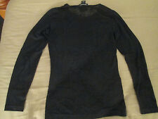 PRIMOPRIMA designer woman black blouse top size I 40 US 6 Made in Italy