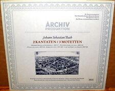 ARCHIV (DGG) JS Bach CANTATAS & MOTETS Haefliger RICHTER THOMAS SAPM 198 401