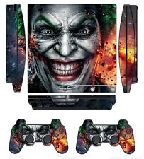 Joker 250 Skin Sticker Cover for PS3 PlayStation 3 Slim and 2 controller skins