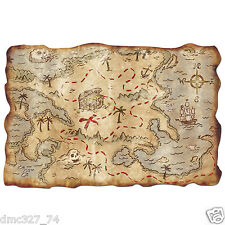 """Party Decoration Prop Party Favor PIRATE TREASURE MAP Buried Treasure 12""""x18"""""""