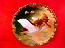 Antique Hand Painted Limoges Game Bird Wall Plate Signed by Known Artist L216 & Hand Painted Plates | eBay