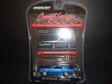 Greenlight Ford Mustang Boss 302 1969 Blue 1/64 Barrett Jackson