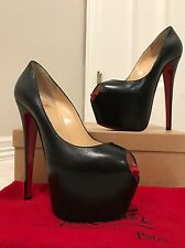 Christian Louboutin Highness 160 - Black - Kid Leather - Size 37