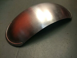 """CAFE RACER UNIVERSAL ALLOY UK MADE 7.5"""" WIDE REAR MUDGUARD CLASSIC BOBBER CHOP"""