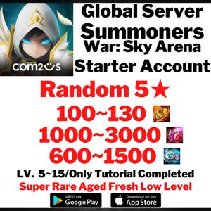 [Global] [Instant] 120~150 Summons NAT 5 Summoners War Starter Account