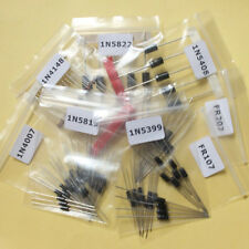 8 Values 100pcs Rectifier Diode Diodes Assortment Kit 1N4007 to 1N5822