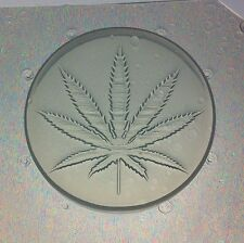 "Flexible Resin or Chocolate Mold 2"" Round Marijuana Pendant Cannabis Hemp Leaf"