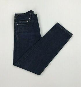 Men's Dark Blue Wash PS Paul Smith Jeans W30 L29 Standard Fit Organic 12oz A