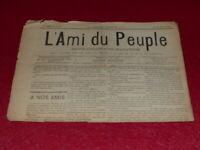 [PRESSE XIXe] MAXIME LISBONNE / L'AMI DU PEUPLE # 11  DIM 11 JANVIER 1885 Rare!