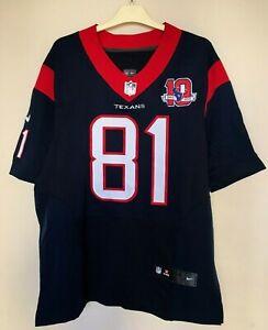 2002/2012 HOUSTON TEXANS NFL DANIELS #81 NIKE ON FIELD Jersey Player Issue