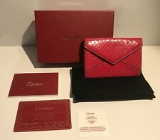 CARTIER Les Must L3001065 Porta Carte Rosso Pelle Elaphe Snake Card Holder