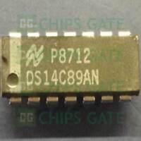 4PCS DS14C89AN Encapsulation:DIP14,Quad CMOS Receiver