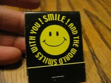 Vintage To Be Happy Face 12th Street Liquor Store Mishawaka IN Unused matchbook