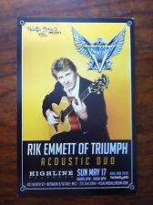 Rik Emmett of Triumph ad/flyer Highline concert Nyc Tremonti
