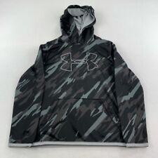 Under Armour Sweater Youth Medium Black Gray Hoodie Long Sleeve Boy Kids