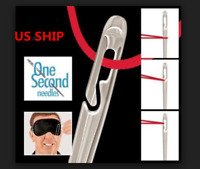US!O ne Second-Needles Self Threading Needles Hand Sewing Repair Set of 12