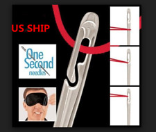US!One Second-Needles As Seen On TV Self Threading Needles Hand Sewing Set of 12