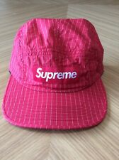SUPREME Ripstop Camp Cap RED Hat Adjustable USA Made!