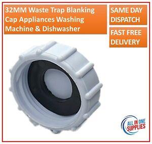 32MM Waste Trap Blanking Cap Appliances Washing Machine Dishwasher