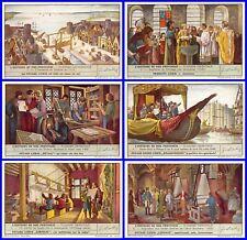 Lot 6 Chromos LIEBIG série HISTOIRE DE NOS PROVINCES FLANDRE OCCIDENTALE