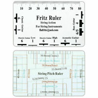 Guitar String Action Pitch Ruler Measuring Bass Classical Electric Acoustic