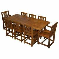 SUBLIME 1968 ROBERT MOUSEMAN THOMPSON REFECTORY DINING TABLE & EIGHT CHAIRS 8