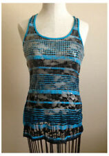 Womens No Boundaries Small Aqua Black Semi Sheer Sequins S