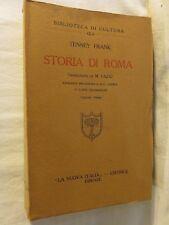 STORIA DI ROMA Tenney Frank M Fazio La Nuova Italia 1932 libro di scritto da per
