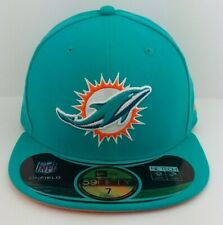 Miami Dolphins New Era/Fitted/Hat/Cap/NFL/Side Line/AFC/59FIFTY/NWT/Size 7