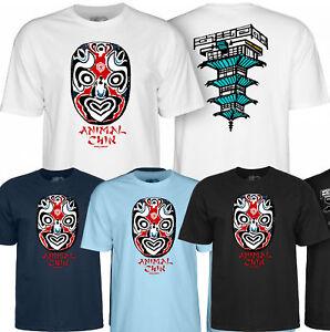 POWELL PERALTA Animal Chin Mask Skateboard Tee Shirt - BONES BRIGADE T-Shirt
