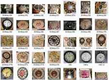 Wanduhr Flores Paris rund Emaile Batterie Vintage Geschenk Mobiliar & Interieur