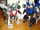 Transformers set of Deluxe Classics Wheeljack & RTS Turbo Tracks complete