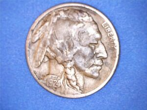 US Coins 1924-S (stained) Buffalo Nickel