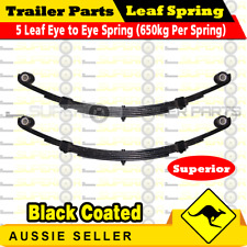 2x 5 Leaf Eye to Eye Springs Trailer Caravan Suspension 45mm x 8mm 1300kg Black