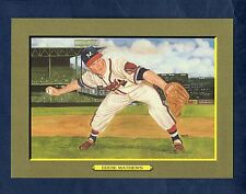 #28 EDDIE MATHEWS, Braves ~ Perez-Steele Great Moments/T3 style cabinet card