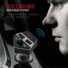 Bluetooth Car Handsfree FM Transmitter Radio MP3 Player USB Charger Voice Number