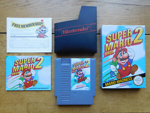NES GAME,  SUPER MARIO BROS 2,  BOX, GAME AND MANUAL,  VERY GOOD CONDITION,  PAL