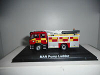 MAN PUMP LADDER FIRE POMPIERS BOMBEROS ATLAS 1:72 HARD BOX