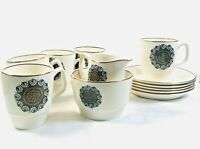 Image 70 Soraya 914837 Expresso Coffee 5 Cups, 5 Saucers Sugar Pot and Cream Jug