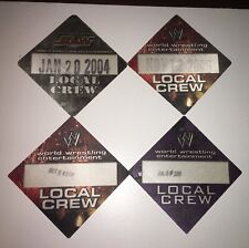 WWE World Wrestling Entertainment Local Crew Passes. Minneapolis. Lot Of 4.