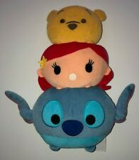 Disney Tsum Tsum  Pooh Ariel Stitch Plush EUC ~ RARE ~ 3 tier