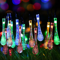 Outdoor Solar Powered 20 LED String Light Garden Path Yard Landscape Lamp Decor