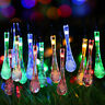 Outdoor Solar Powered 20 LED String Light Garden Path Yard Landscape Lamp Decor