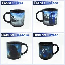 Doctor Who Disappearing Tardis Heat Sense Changing Coffee Mug Magic Office Cup