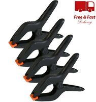 """4X JUMBO SPRING CLAMPS 230mm/9"""" Strong Self Adjusting Craft Woodwork Quick Grip"""