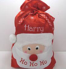 Personalised Embroidered Any Name Large Santa Christmas Sack Xmas Stocking Gift