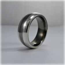 Titanium and Silver Wedding Band