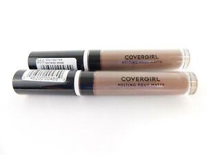Lot of 2 Covergirl Melting Pout Matte Lip Gloss #355 Gray Matter Grayish Brown