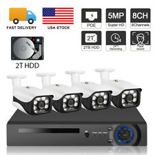 8Ch 5Mp 1920P Nvr Video Surveillance Face Record PoE Security Camera System